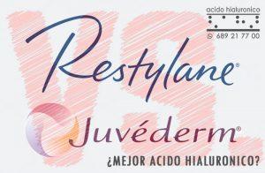 Marcas de Acido Hialuronico Inyectable : Restylane, Juvederm