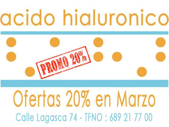 Acido Hialuronico Precio Ofertas 20% en Marzo